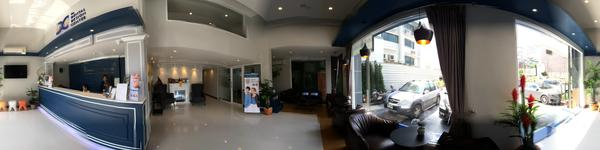 The Dental Design Center - Pattaya -Inside Clinic with Reception Counter and waiting area