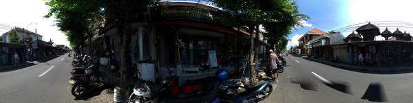 Legian Dental - Legian, Kuta, Bali - Sign board beside the busy main road, walk and turn in from mai
